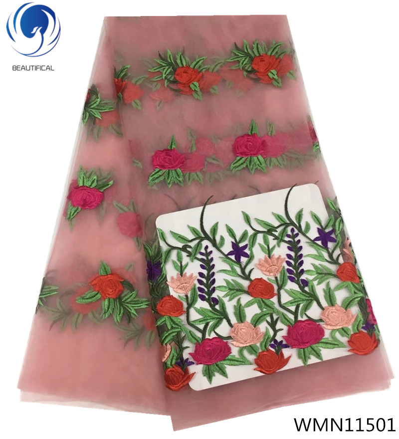 BEAUTIFICAL 2019 africa lace embroidered lace fabric flowers pattern 5yards/piece latest design high quality lace fabric WMN115BEAUTIFICAL 2019 africa lace embroidered lace fabric flowers pattern 5yards/piece latest design high quality lace fabric WMN115