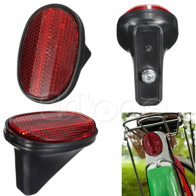 NEW Red Bicycle Bike Rear Fender Safety Warnning Reflector Tail MudGuard Cycling New