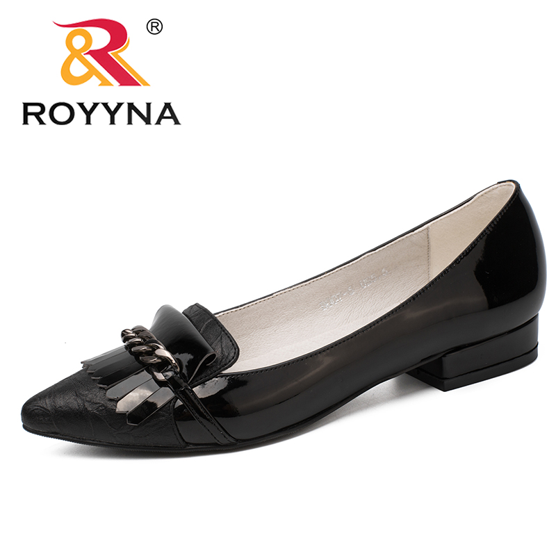 ROYYNA New Style Women Pumps Pointed Toe Lady Shoes Square Heels Women Wedding Shoes Comfortable Light Soft Fast Free Shipping royyna new fashion style women pumps round toe women dress shoes high heels women office shoes slip on lady wedding shoes