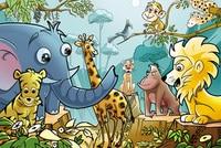 Casse-tête animaux de la jungle