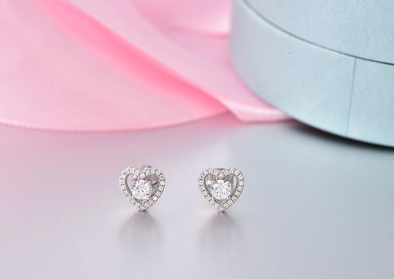 sterling silver stud earrings wholesale jewelry DE08310A (8)
