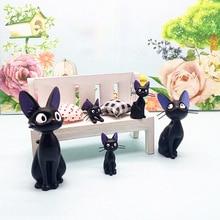 Миниатюрный Кукольный домик с милыми черными котами, украшение бонсай для сада и дома, миниатюрные игрушки, ремесленные украшения, аксессуа...