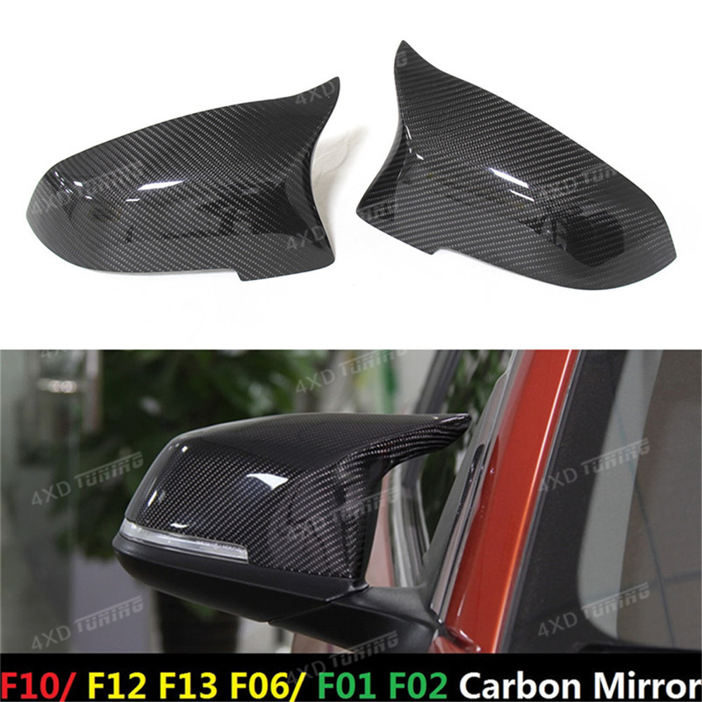 For BMW F10 Mirror 5 6 7 Series F07 F10 F12 F13 F06 F01 F02 Carbon Fiber Rear View Side Mirror Cover M Look 2014 2015 2016 - UP mt foot pedal rest for bmw f10 f12 f07 f25 f06 f01 x3 5 gt 6 7 series m5 m6 smg