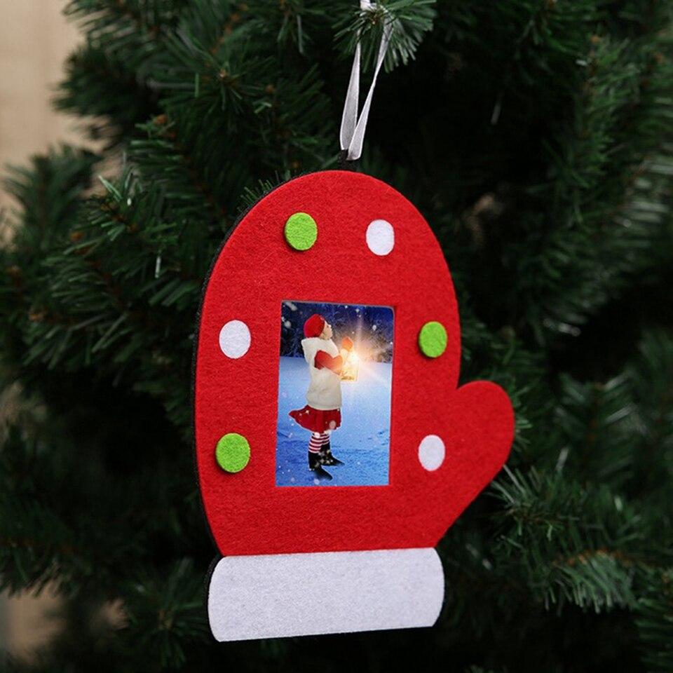 1pc Diy Christmas Photo Frame Pendants Ornaments For Christmas Party