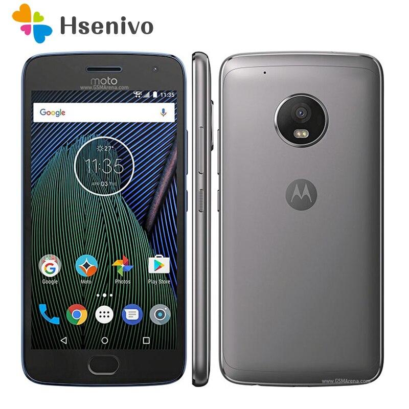 Original débloqué Motorola Moto G Plus (5th Gen) G5 XT1687 32 GB GSM CDMA 4G LTE Android Smartphone débloqué téléphone reconditionné