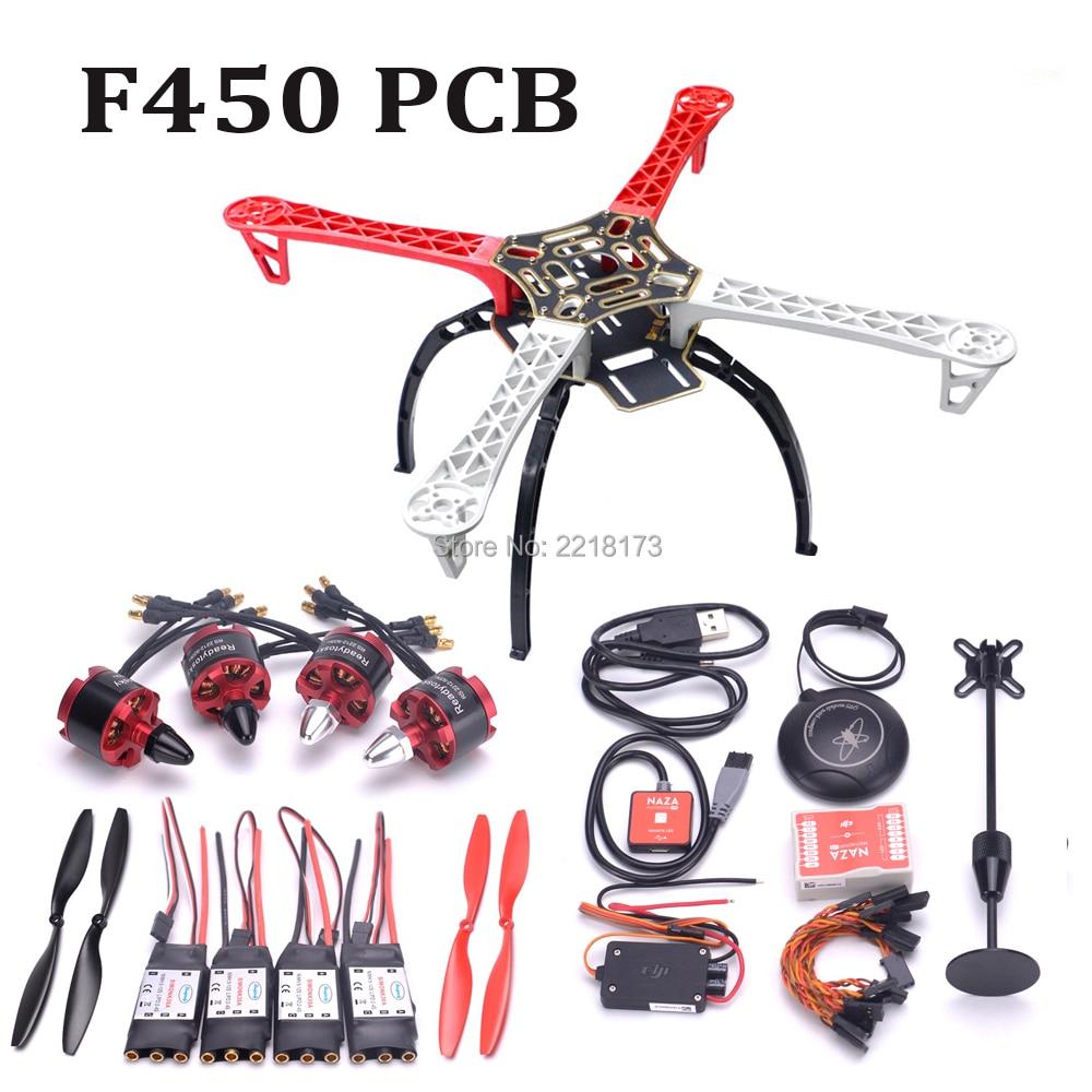 F450 450mm Quadcopter cadre kit avec train d'atterrissage et Naza M Lite Carte Contrôleur De Vol avec M8N GPS 2212 920kv 30A simonk ESC