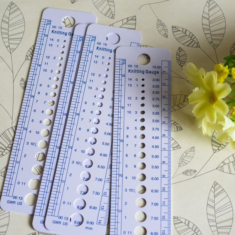 Hand Knitting Knit Sewing Tool Craft Embroidery Measure Ruler Needle 2mm 10mm