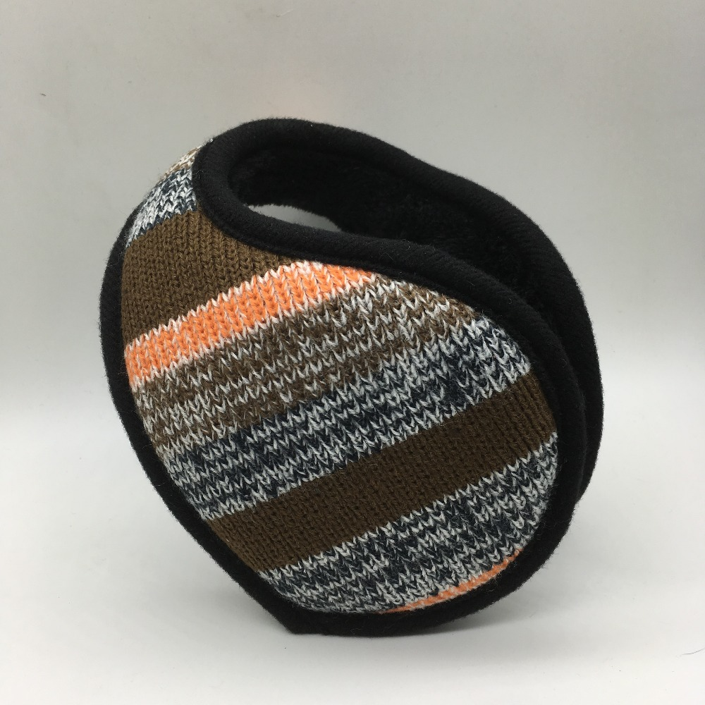 2018 New Style Winter Warmer Earmuffs Men Women Solid Knitted Ear Warmer Thicken Earflap