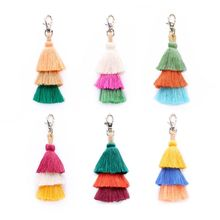 2019 Colorful Bohemian Tassel Bag Charm Car Keychain Handbag Shoulder Bags Pendant Gift