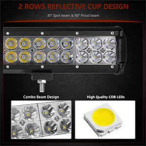 "Image 2 - 4"" 7"" 9"" 12"" 17 20 28 36 44 inch Off Road LED Light Bar Spot Flood Combo Beam 72W 126W 12V 24V LED Work Lamp for 4x4 UTV ATV SUV"
