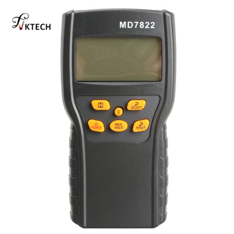 MD7822 Digital Grain Moisture Meter Temperature Meters Tester Measuring Probe Wheat Corn Rice Moisture Test Meter w/ LCD Display benetech gm610 1 75 lcd moisture meter black orange