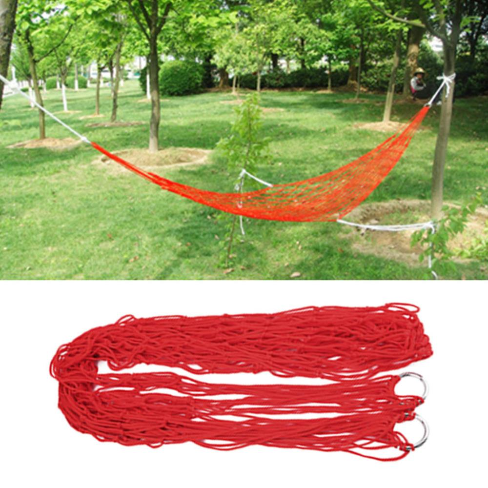 Camp Sleeping Gear Shop For Cheap 1pc Sleeping Hammock Hamaca Hamac Portable Garden Outdoor Camping Travel Furniture Mesh Hammock Swing Sleeping Bed Nylon Hangnet