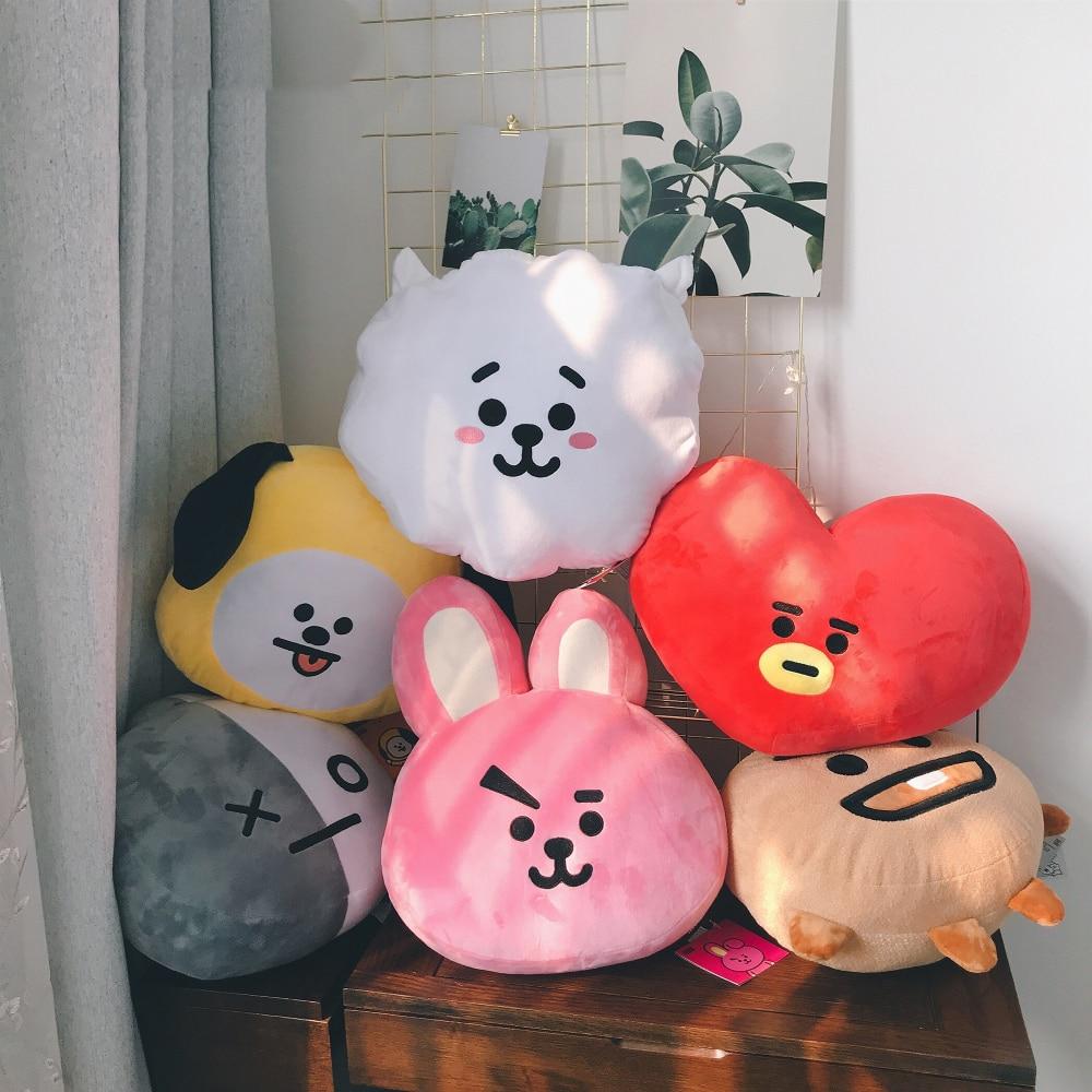 1pc 35cm BTS Bangtan Boys Plush Pillow Sofa Cushion BT21 TATA VAN COOKY Present Toys Children Baby Birthday Gift
