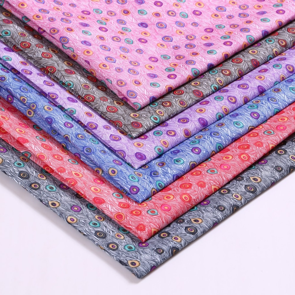 150cm wide Peacock flower polyester fabric / garment ...