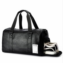 Black Gym Bag Men Leather Duffle Bag Women Independent Shoe Storehouse Sport Crossbody Bag PU Travel Bags Hand Luggage For Gym футболка independent tcbtg black