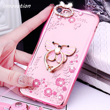 Innovation Rhinestone Case For Xiaomi Mi5 Mi 5 Mi 5S Mi 5C 4S 4C Silicone Glitter Diamond Cover For Xiaomi Mi 6 Phone Bag Luxury goowiiz розовый mi 4s
