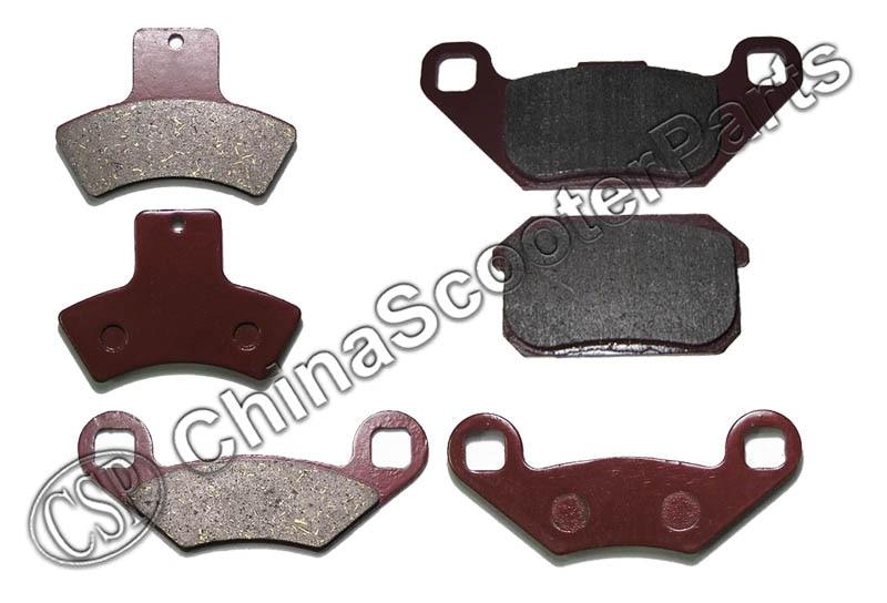 3 Pairs 6PCS Front  Rear Brake Pad  Linhai 250 300 250CC 300CC  ATV UTV Buggy