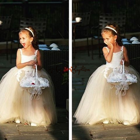 2016 custom made Flower Girl Dresses for Wedding Ball Gowns first communion dresses for girls pageant dresses children flower girl dresses white lace embroidery kids party wedding pageant ball gowns for girls first communion dress custom