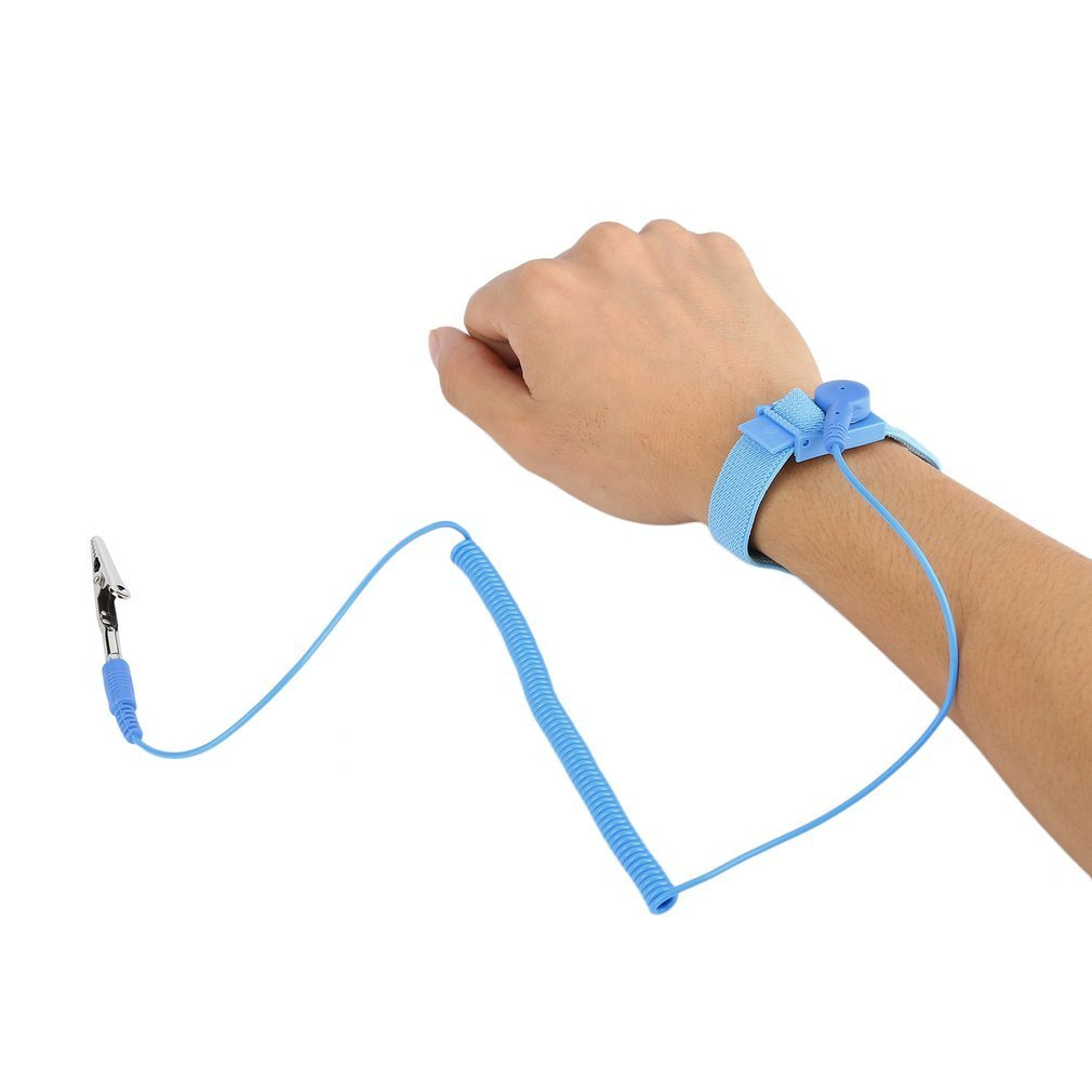 Wearable Devices Sweet-Tempered Esd Wrist Strap Alligator Clip Anti Static Discharge Band Grounding Prevent Static Shock Wholesale 2018 New Arrival