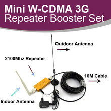 As much as 500 Sq. Meter WCDMA 2100MHz 3G RF Repeater Cellular Telephone Sign Booster Amplifier Repeater+Out of doors Antenna With10M Cable