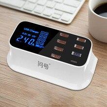 8 портов USB быстрое зарядное устройство типа C & QC 3,0 Быстрая зарядка розетка настенное зарядное устройство для телефона iPhone 11 Pro X Xs Max Samsung S8 S9 S10 Plus