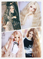 NEW Bjd Wig 4color Grace Noble (Brown/Golden/Grandma Grey/Pink) Wavy Long Hair 1/3 22-24cm Bjd Doll Wig