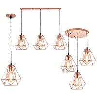 Nordic Rose Gold Iron cage Led Pendant Lights loft creative E27 hanging Lamp For Living Room Kitchen Led Lustres Home Decor