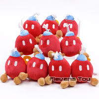 Super Mario Brothers Boo Ghost / Bob Omb Plush Pendants Keychains Soft Stuffed Toys Dolls Gifts 10pcs/lot 3 Types