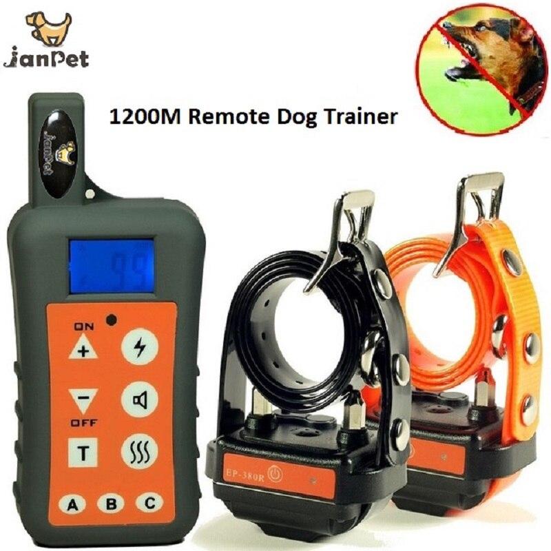 JanPet wodoodporna i akumulator 1200 M/1300 metrów zasięg pilota obroża treningowa dla psa dla 1 lub 2 lub 3 psy trener w Sprzęt zręcznościowy od Dom i ogród na  Grupa 1