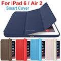 Smart Cover Para Ipad Air 2 caso Flip Ultra Fino Suporte de couro de Luxo Original Capa Funda Para Apple IPad Ar2 caso