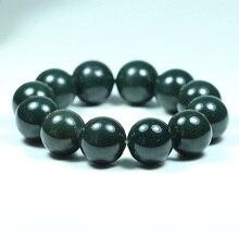 Drop Shipping Natural XinJiang HeTian Jade Bracelets Stone Round Beads Bracelet For Women Men Fine Jewelry