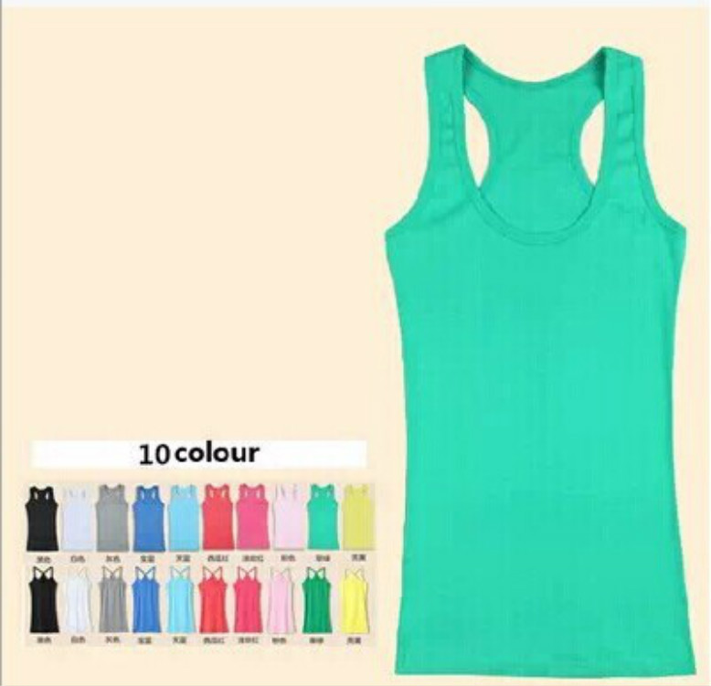 2019 Summer Modal Woman sleeveless t-shirt candy color Girl   tank     tops   Slim lady camis fitness for women   tops