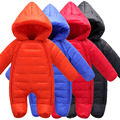 2016 New Arrival Baby Winter Rompers Hood Long Sleeve Newborn boys girls Thick Outwear Warm Suit for 80-90cm
