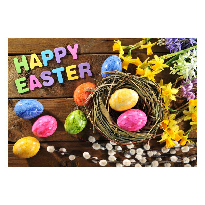 2.2MX1.5M thin vinyl Photography Backdrop Custom Photo Prop easter backgrounds GE-192