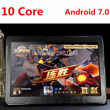 Android tablet 10 inch Deca Core 3G/4G Phone Call 4GB RAM 64GB ROM 1920*1200 IPS Dual Cameras Android 7.0 GPS Tablets 10 10.1