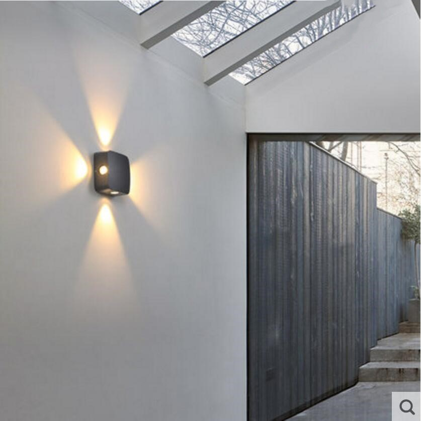 4x1w Outdoor Led Wall Lights Waterproof Hotel Exterior