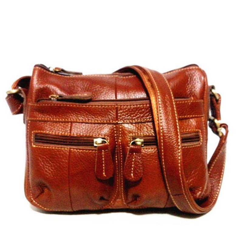 2017 European women Genuine Leather bag Women Messenger bags Vintage Female tote Ladies shoulder Bag Leather women Crossbody Bag