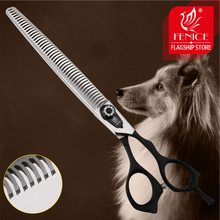 Fenice High Quality Professional 8.0inch pet grooming scissors for dogs cutting thinner shears with fine tooth
