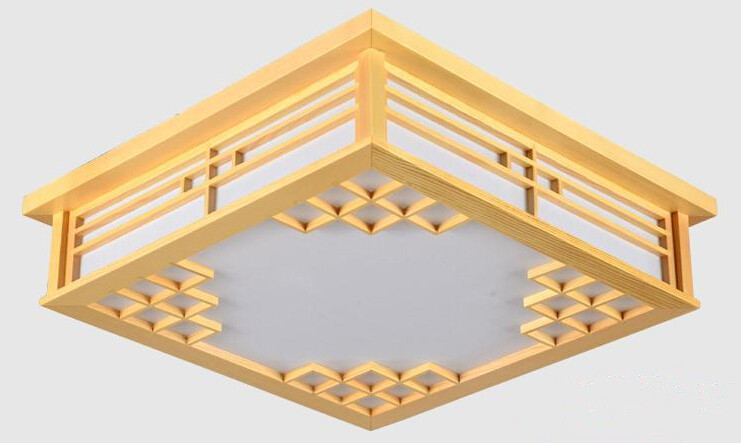 Japanese Wood Ceiling Lights LED Lamp E27 Tatami Bedroom Living Room Flush Mount Ceiling Lamp Home Decorative Design Lantern japanese tatami wood led ceiling lamp simple bedroom lamps ultra thin living room ceiling lights new restaurant indoor led lamp