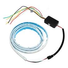 Многофункциональный Сигнальные лампы внешний Освещение автомобиль RGB Светодиодные ленты тормозной фонарь задний багажник фонарь автомобиль-Стайлинг поворотов свет