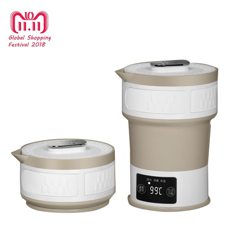 Folding Kettle Compressed Electric Kettle Travel Portable Kettle Mini Insulation Kettle 110V-240V el kettle