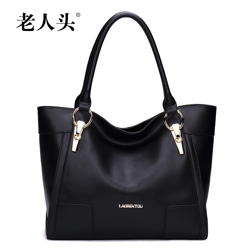 2017 new LAORENTOU famous brands women genuine leather bag top quality fashion black women handbags Casual shoulder bag