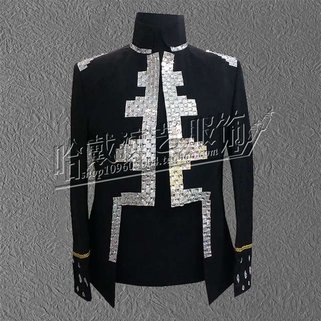 S-5XL!   The 2018 yards stage costumes new sequins menswear design The singer's clothing  High quality performance clothing.