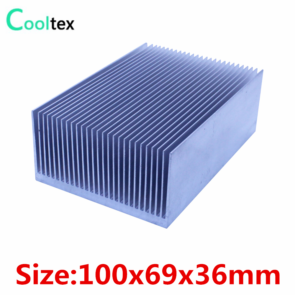 High power 100x69x36mm radiator Aluminum heatsink Extruded  heat sink for power amplifier LED heat dissipation cooler cooling radiator aluminum cooler cooling heatsink extruded profile heat sink for computer pc chipset power ic electric device led light
