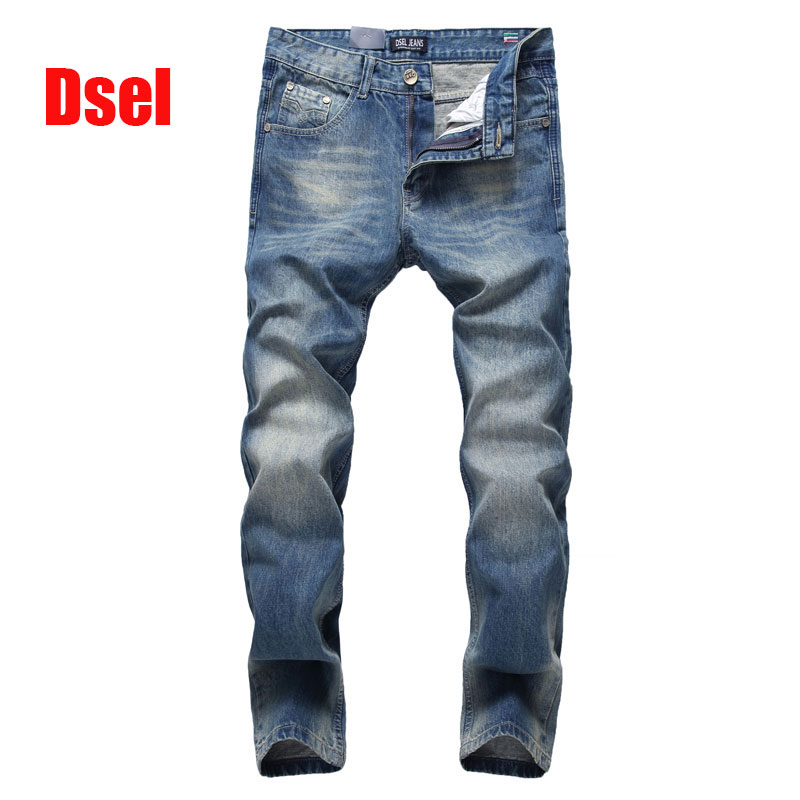 ФОТО 2017 New Dsel Brand Top Quality Hot Sale Fashion Men Jeans Straight Dark Blue Color Printed Jeans Men Ripped Jeans,616-2