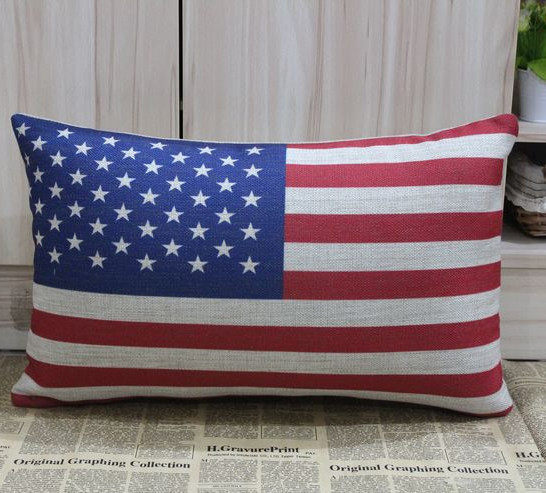 Livraison gratuite USA bannière / drapeau américain coton housse