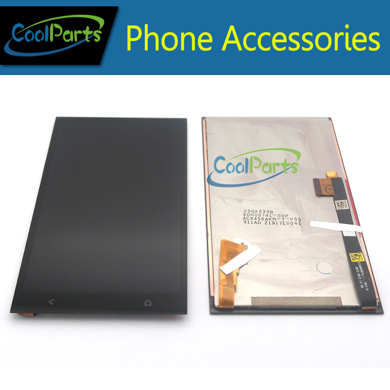 Подробнее о Black Color For HTC One M7 801E LCD Display and Touch Screen Digitizer Single Sim Version 1PC/Lot 1 piece free shipping tested replacement repair parts 4 7 inch screen for htc one m7 801e lcd display with touch digitizer