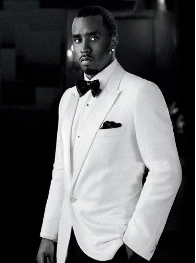 Costume veste blanche pantalon noir