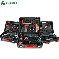 FUJIWARA 710W 220V 50HZ Electric Impact Drill 18/38/68 Sets Household Hand held Hammer Wall Drilling Woodworking Drill