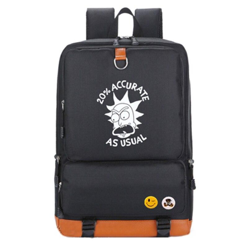 Rick And Morty Backpack Luminous Men Women Anime Backpacks Teenager School Travel Bags Girls Boys Schoolbag Laptop Bag BP0162